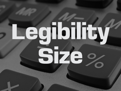 Legibility Size Calculator